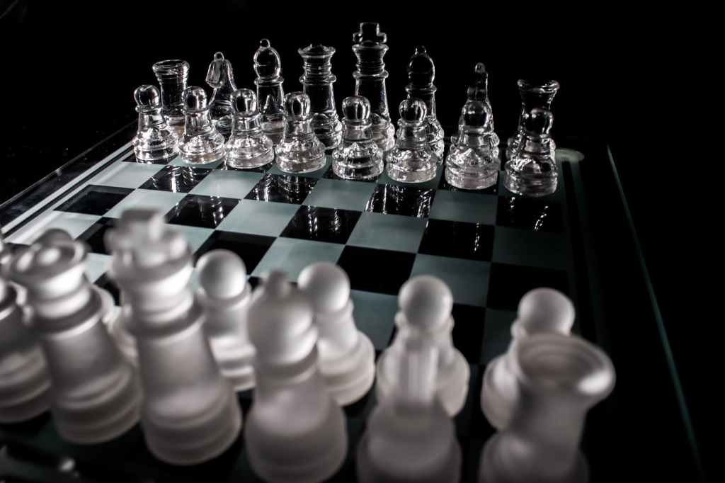 Strategic moves in communications, like chess.